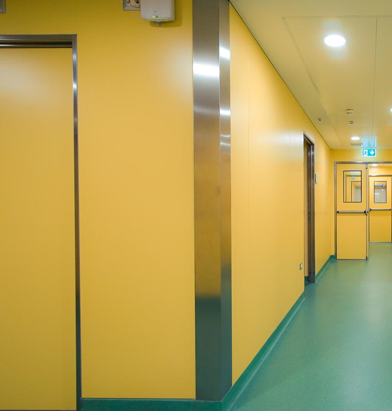 The OR Module from GB-HLS features configurable walls available inHigh Density Laminate (HDL)  finishes
