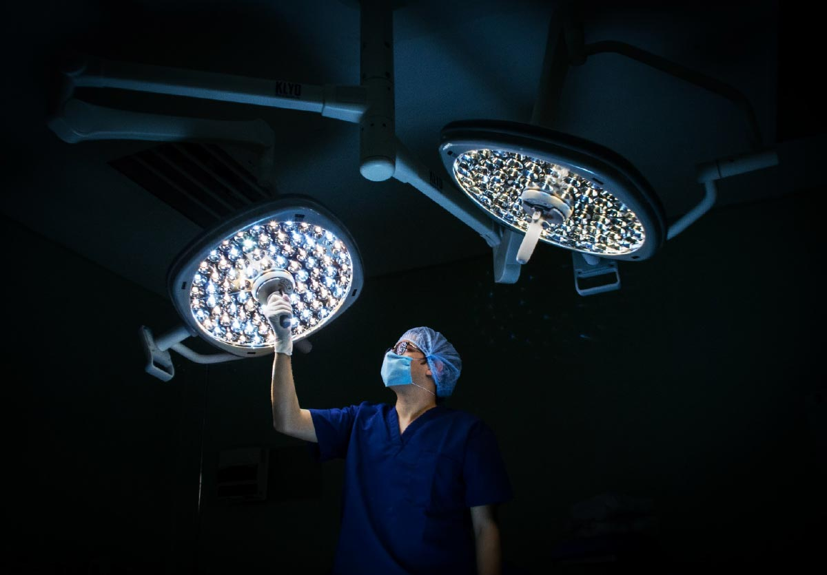 The GB-HLS OR Module integrates sophisticated surgical lighting